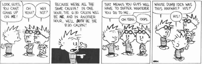 calvin and hobbes time machine